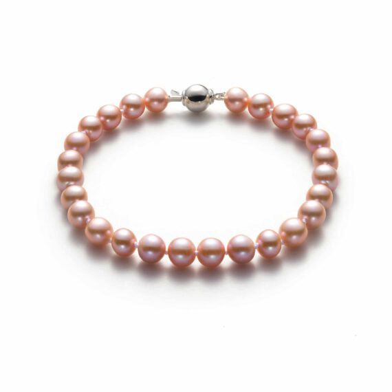 Lavender Freshwater Pearl Bracelet By Honey Papaya Jewellery